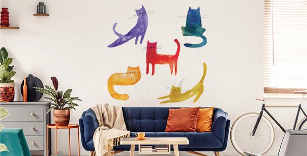 Sticker chats colorés