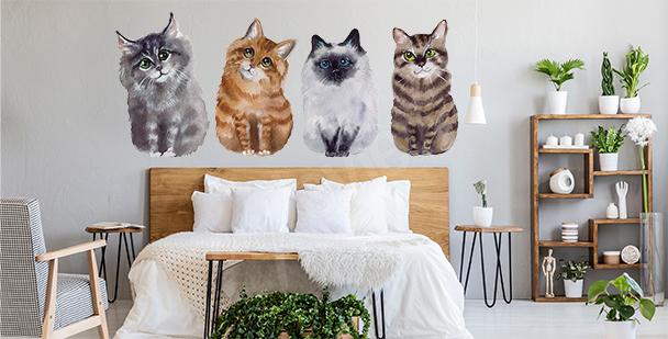 Sticker chats pour chambre à coucher