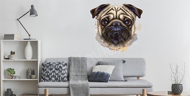 Sticker chien aquarelle
