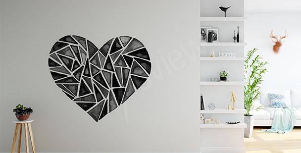 Sticker cœur géométrique
