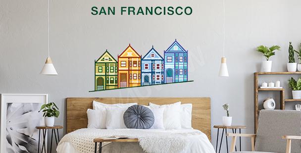 Sticker coloré San Fransisco
