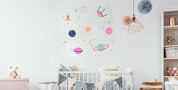 Sticker cosmos pour chambre d'enfant