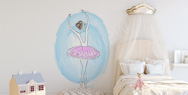 Sticker danseuse classique pastels