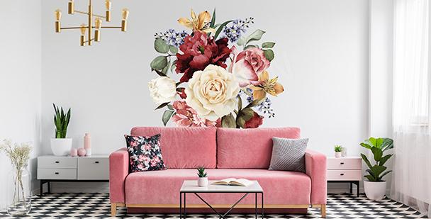 Sticker décoratif avec des fleurs