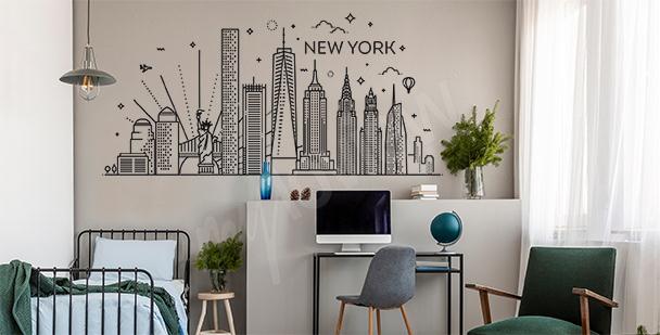 Sticker décoratif New York