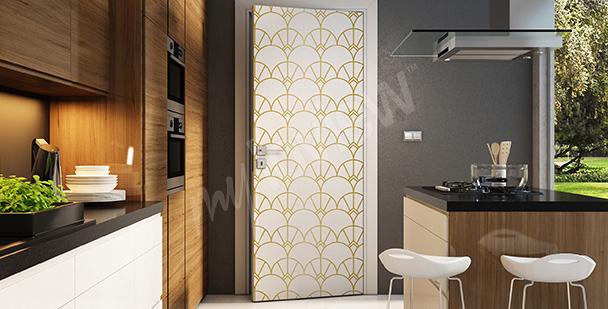 Sticker décoratif pour une porte