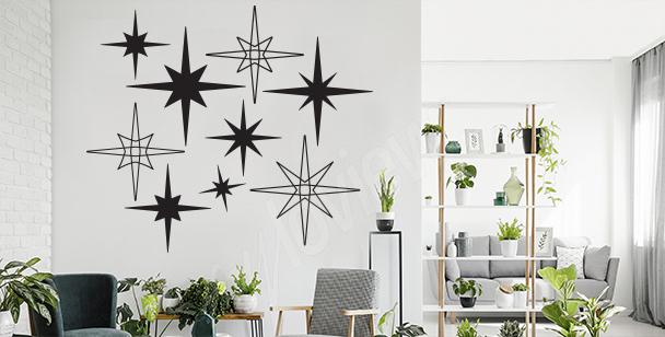 Sticker étoiles style rétro