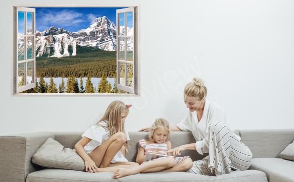 Sticker fenêtre avec le panorama
