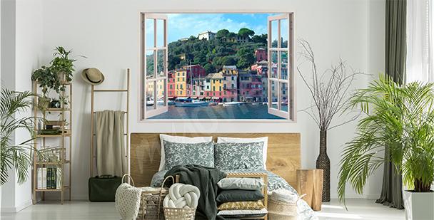 Sticker fenêtre avec vue sur Portofino