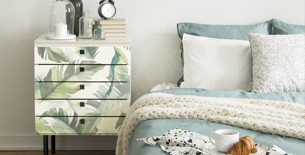 Sticker feuilles pour chambre à coucher