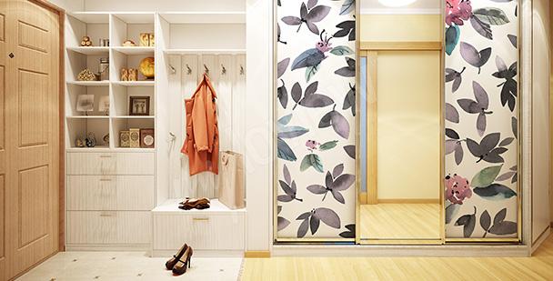 Sticker feuilles exotiques pour armoire