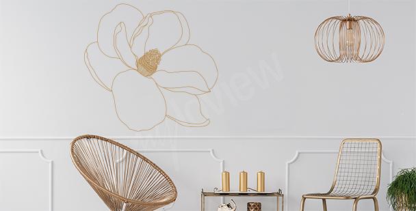 Sticker fleur de magnolia