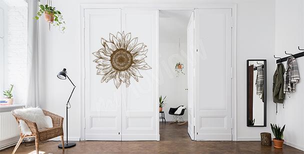 Sticker floral pour une porte