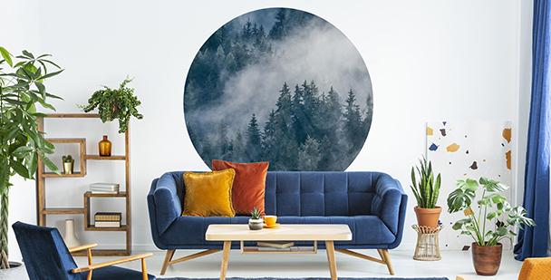 Sticker forêt dans le brouillard