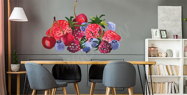 Sticker fruits d'été