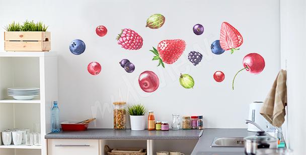 Sticker fruits pour cuisine