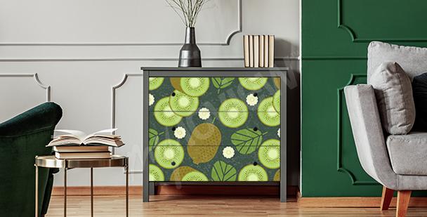 Sticker fruits pour étagère