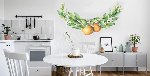 Sticker fruits pour salle à manger