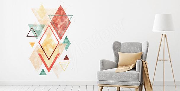 Sticker géométrie colorée