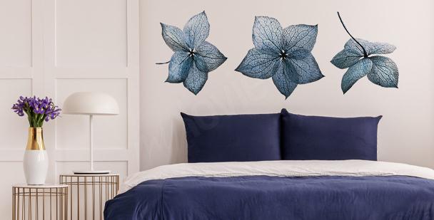 Sticker hortensia bleu