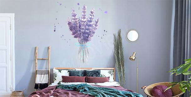 Sticker lavande pour chambre à coucher