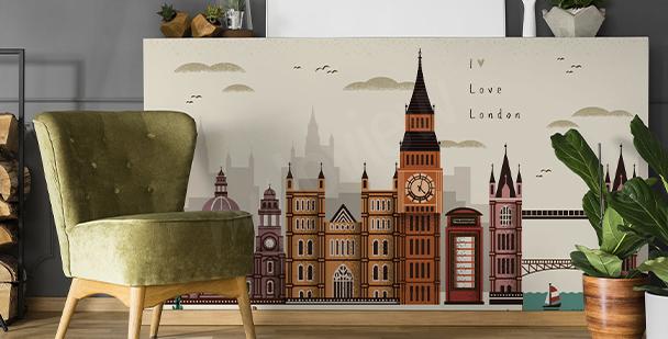 Sticker Londres et architecture