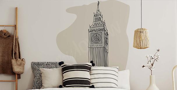 Sticker Londres minimaliste
