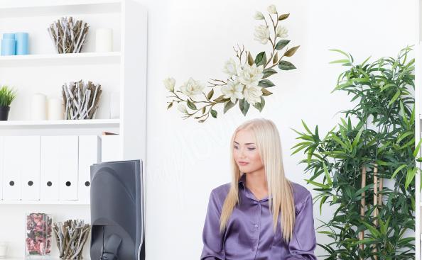 Sticker magnolia pour bureau