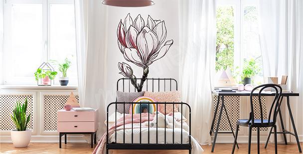 Sticker magnolia pour chambre d'enfant