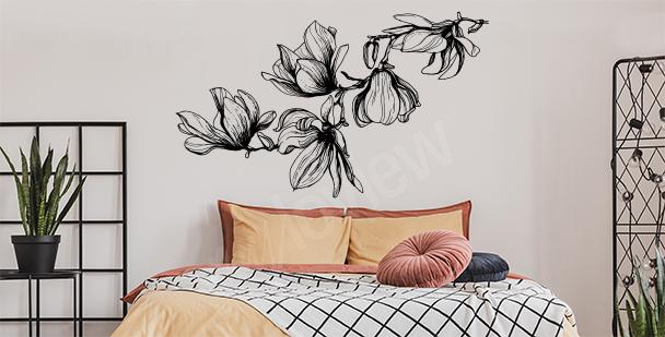 Sticker magnolia pour la chambre