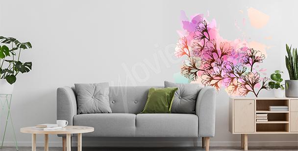 Sticker magnolia pour salon