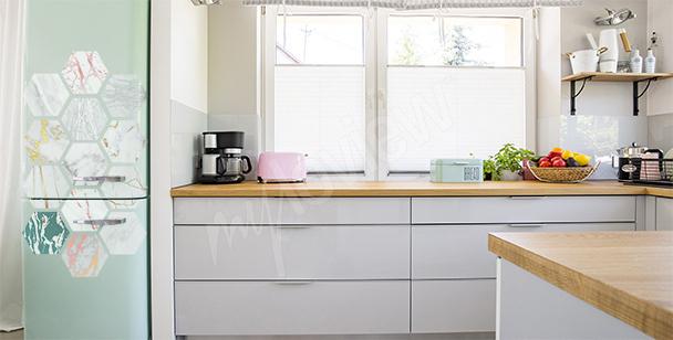 Sticker marbre pour réfrigérateur