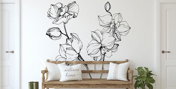 Sticker minimaliste orchidée
