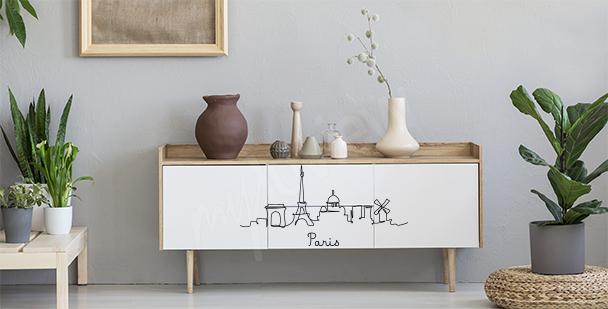 Sticker minimaliste Paris