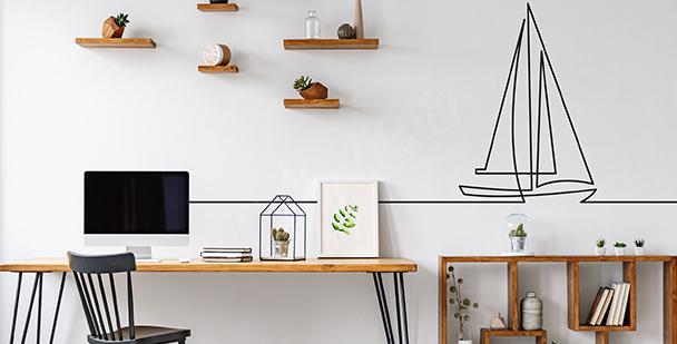 Sticker minimaliste pour bureau