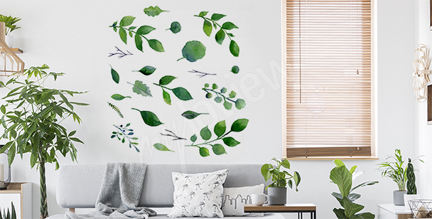 Sticker minimaliste végétation