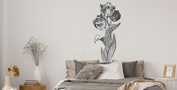 Sticker minimalistes avec des fleurs