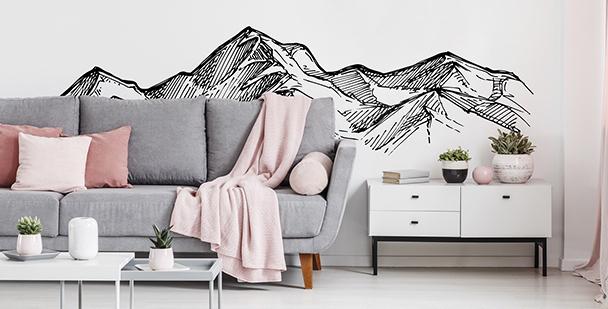 Sticker montagne monochrome