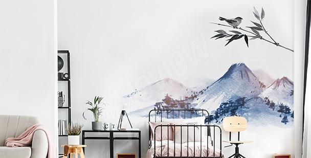 Sticker montagne pour chambre à coucher
