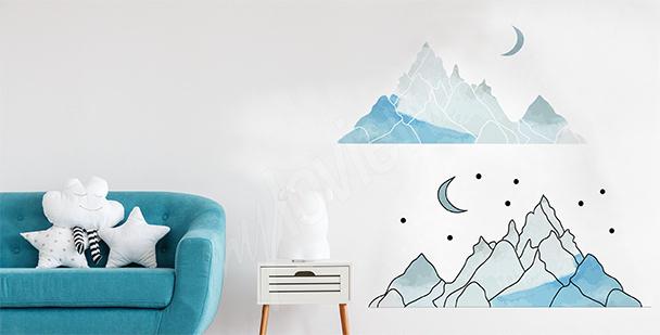 Sticker montagne pour chambre d'enfant
