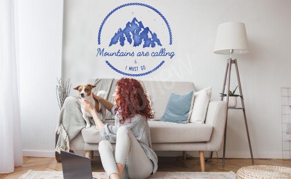 Sticker montagnes pour chambre à coucher