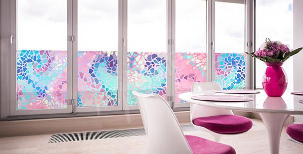 Sticker mosaïque vitrail
