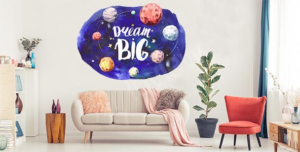 Sticker motivant planètes