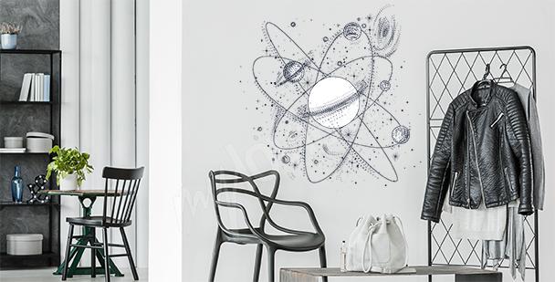 Sticker mouvement des planètes