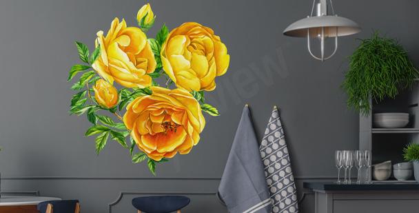 Sticker mural à fleurs