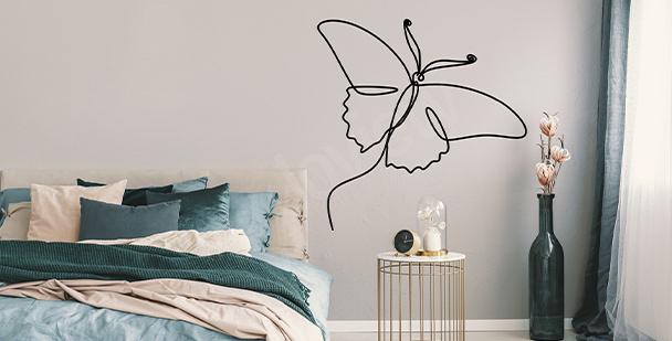 Sticker mural minimaliste
