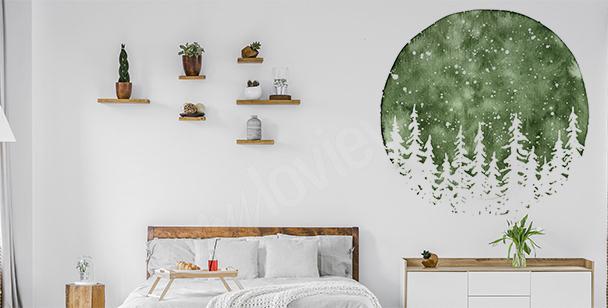Sticker mural pour chambre à coucher
