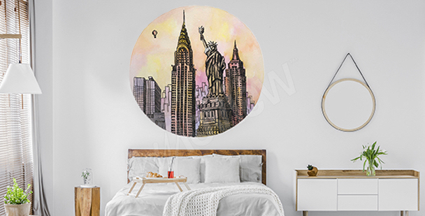 Sticker New York à l'aquarelle