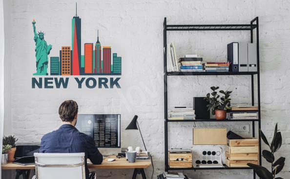 Sticker New York – gratte-ciels