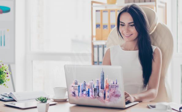 Sticker New York pour laptop